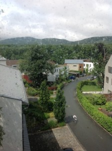 View from the 2nd floor of the Mountain Lodge, Oberursel