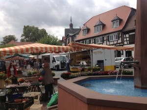 Oberursel market and fountain