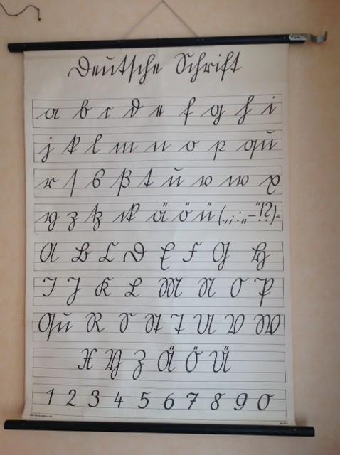 Deutsche Schrift in der Grundschule