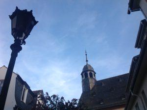 Kirche und Laterne