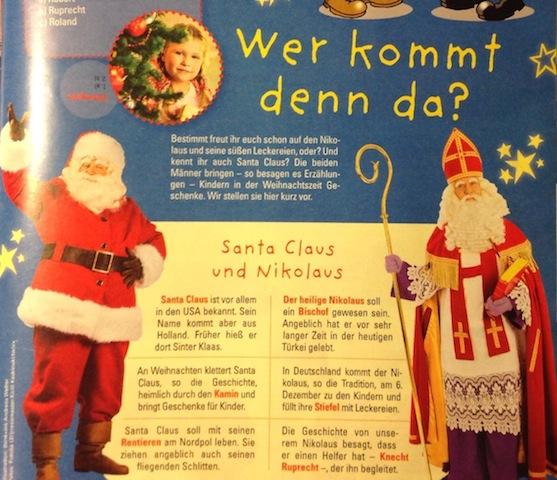 Nikolaus versus Santa